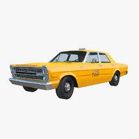 galaxie 1966 taxi 3D model