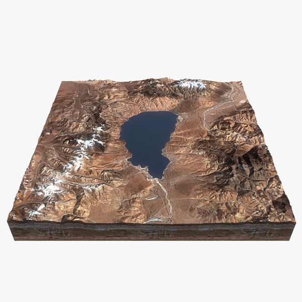 lake china relief 3D model