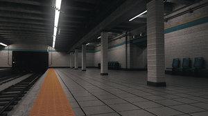 subway station scene 3D model