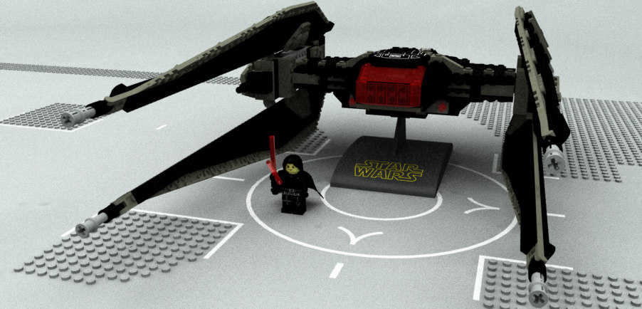 3D lego ren class starfighter