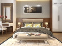 apartment bedroom furniture 3D