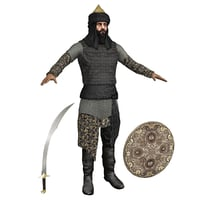 saladin man armor 3D model