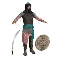 saracen warrior man 3D