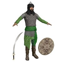saracen warrior man 3D model