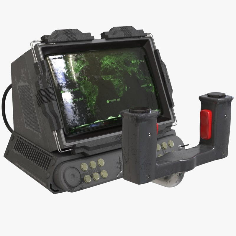 sci fi console technology model