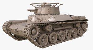 tank type 97 chi 3D model