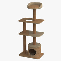 3D cat playhouse condo model