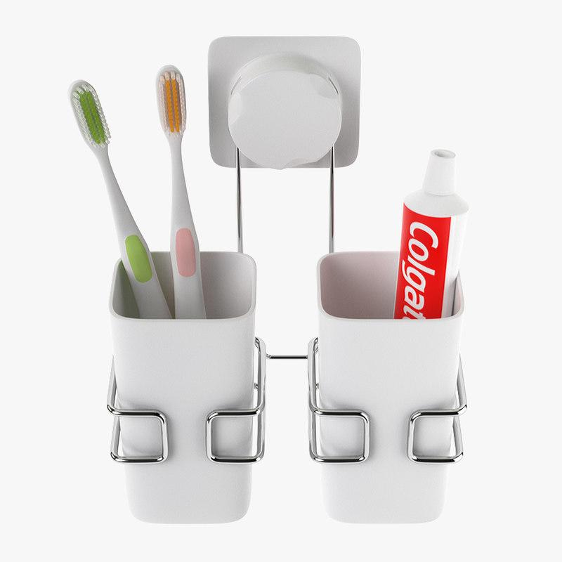 cup hanging bathroom 3D model