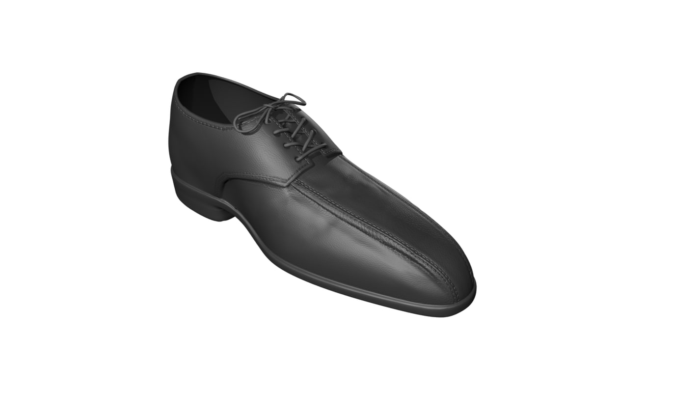 leather shoe model