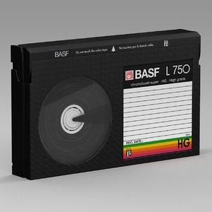 betamax cassette tape 3D