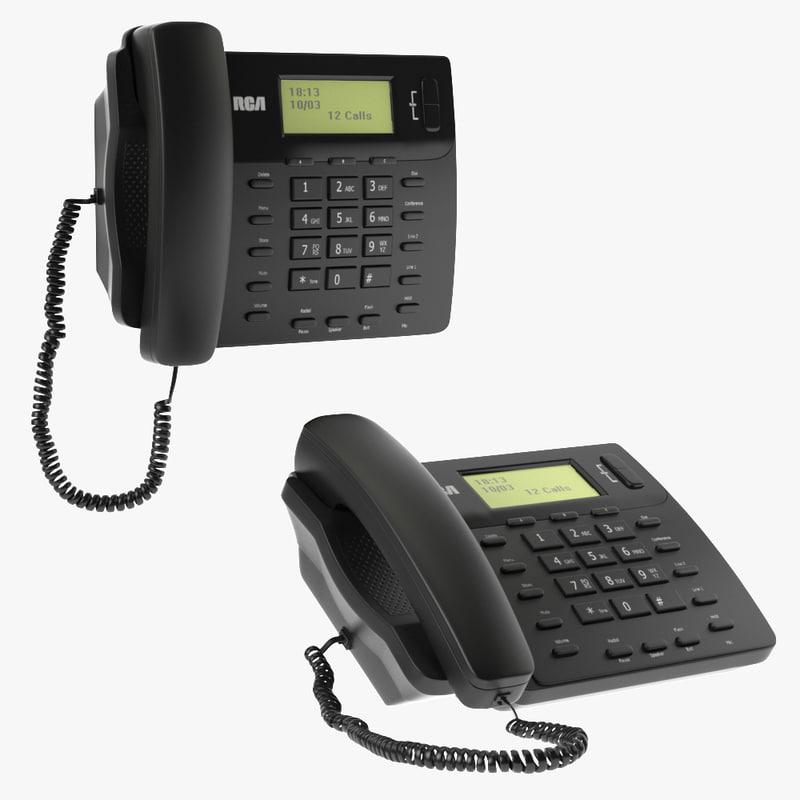 3D model phone telephone