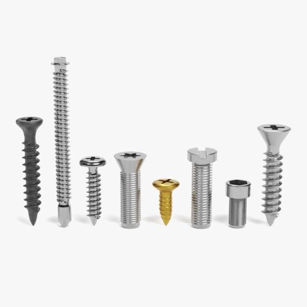 screws pbr 3D model