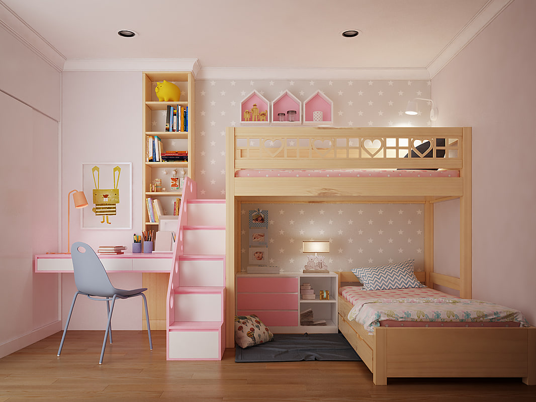 children bedroom 3D