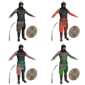 3D model pack saracen warriors