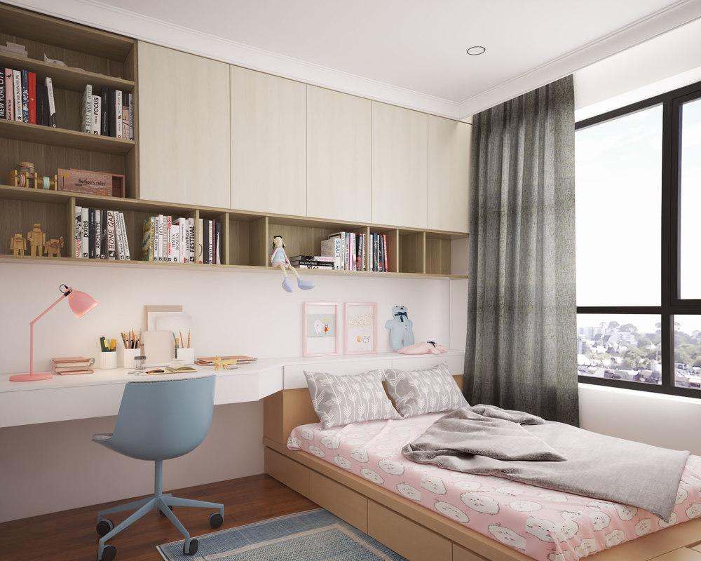 3D girl bedroom
