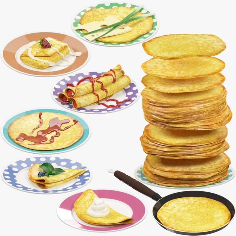 pancakes plate 3D