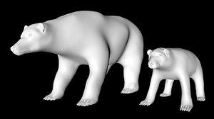 polar bear baby 3D