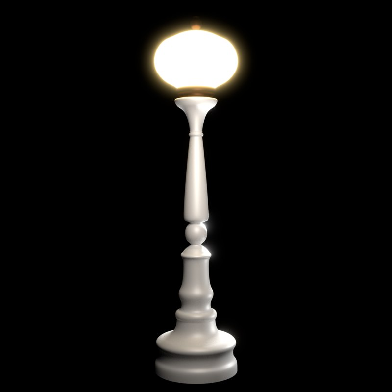 lamp lamppost post 3D model