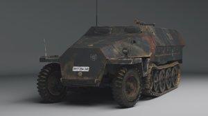 3D german ww2 sd kfz model
