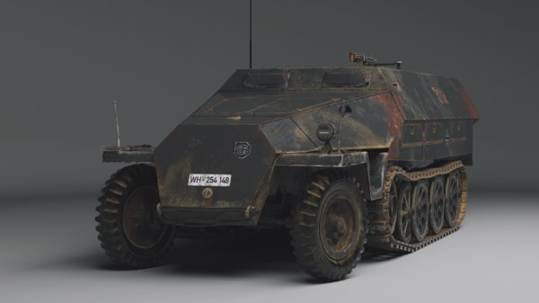 3D german ww2 sd kfz model
