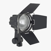 3D model flood light lamp