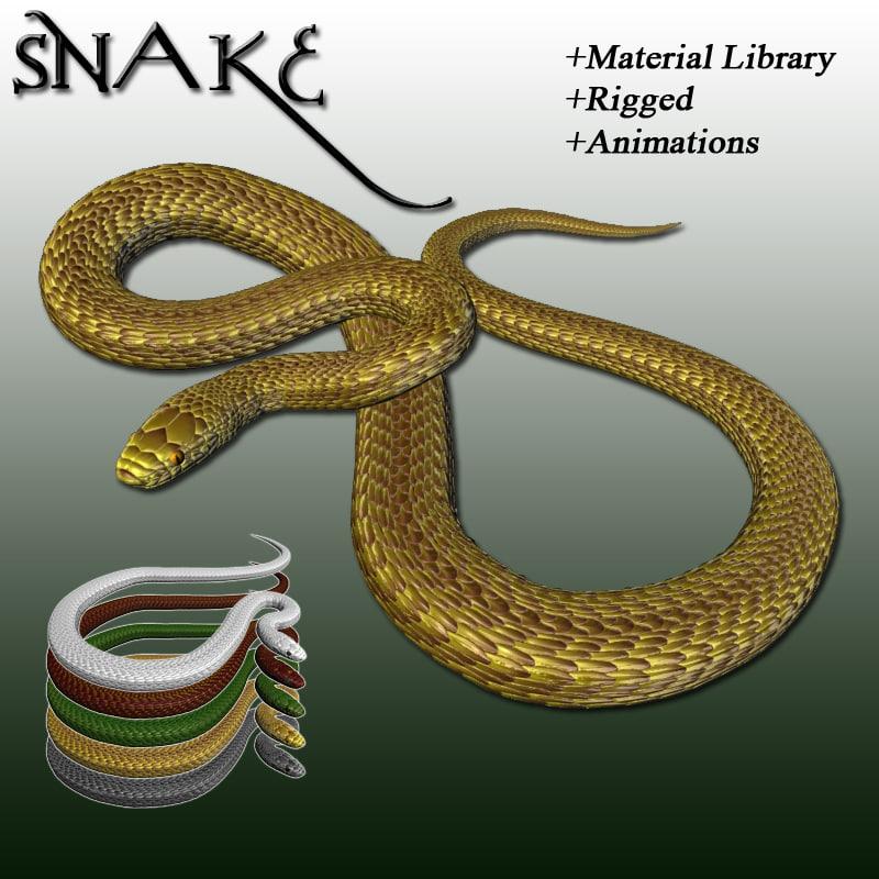 3D rigged snake