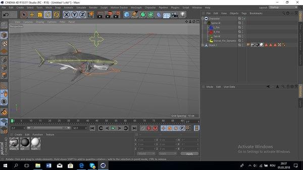 motion shark 3D model