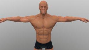 3D athlete games cartoon
