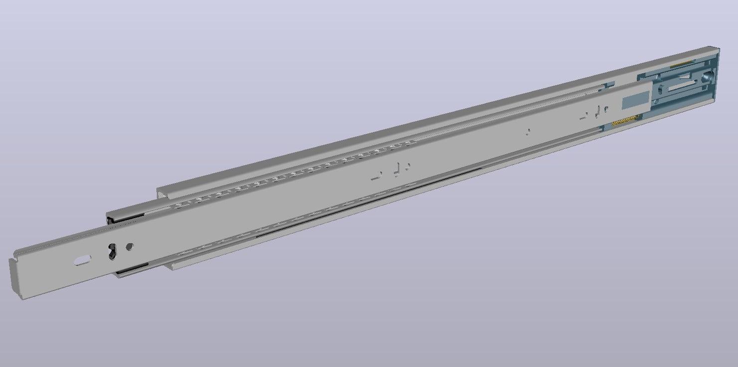 drawer guide 3D model