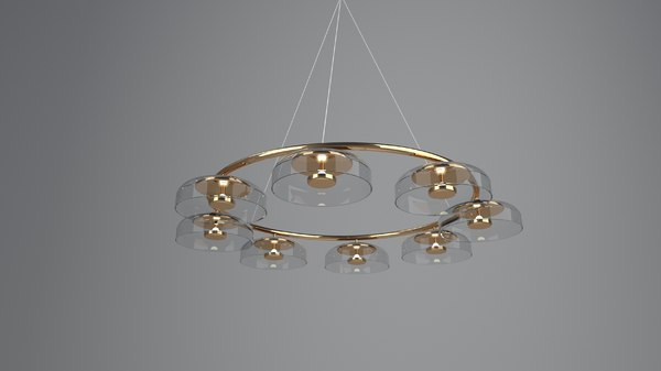 3D sketchup blossi 8 lamp model