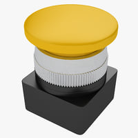 industrial button 3D model