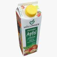 3D apple juice container