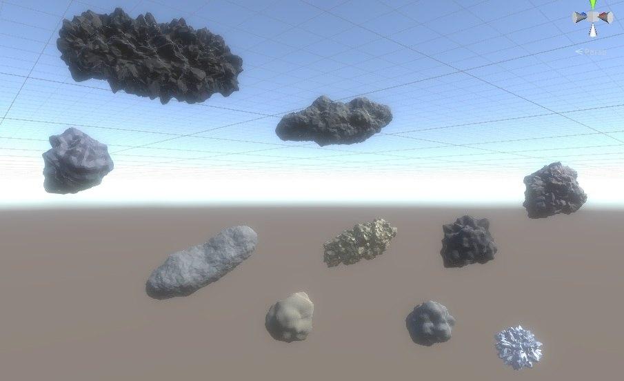 asteroids 3D model