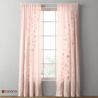 3D drapery floating butterfly voile
