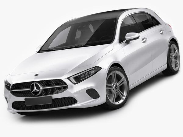mercedes a-class 2019 3D model