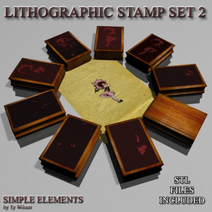 3D model lithographic stamp