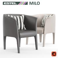 3D milo easy chair