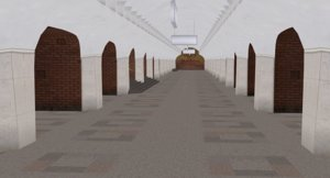soviet union subway station 3D model