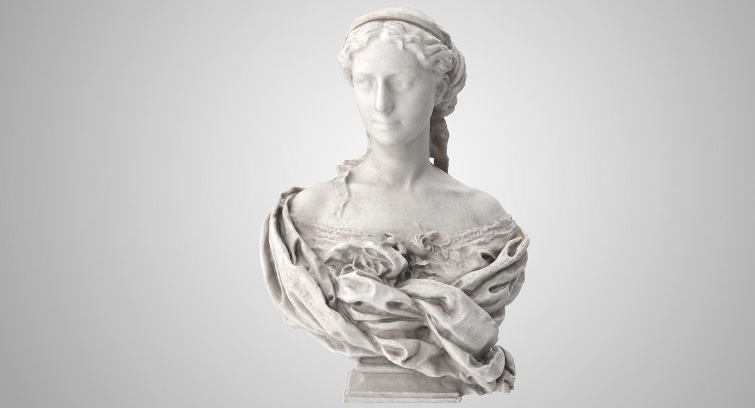 3D countess armand bust