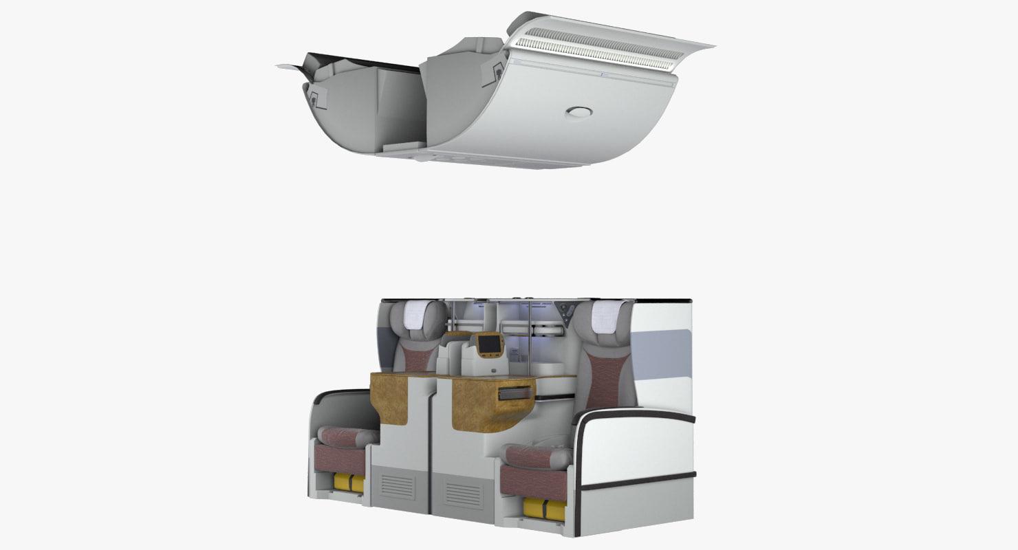 3D business section seats a380