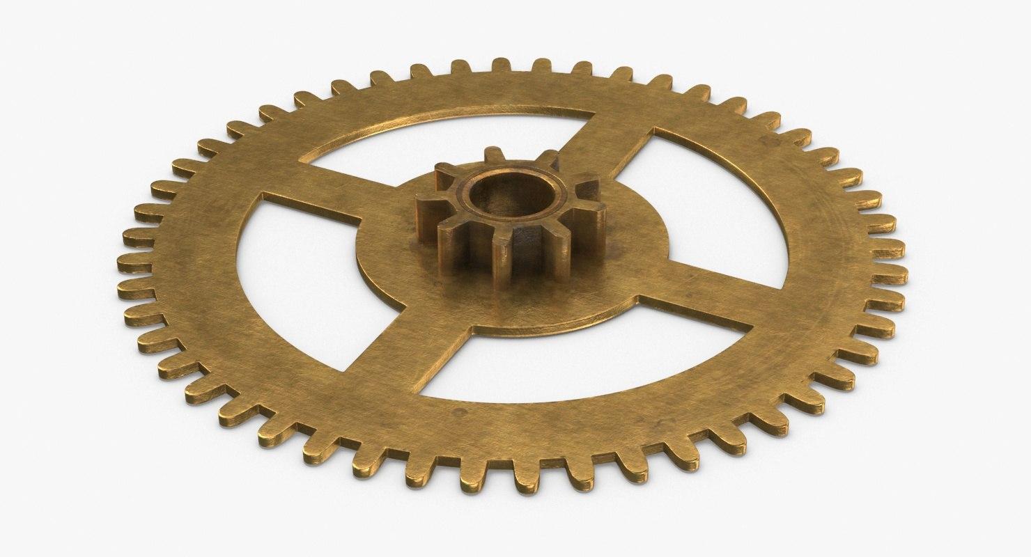 clock-gears-02---gear-v4 3D model