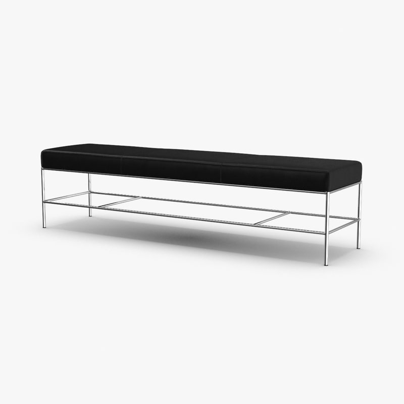 3D modern-bench model