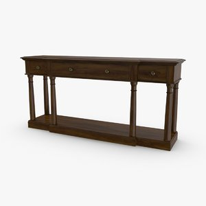 3D classical-console-table