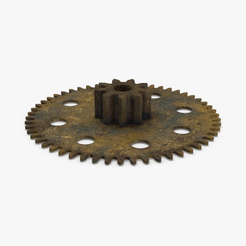 clock-gears-01-dirty---gear-3 3D model