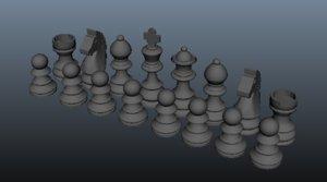 3D chess set model