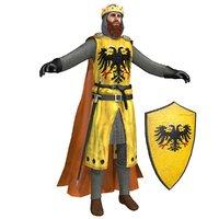 frederick barbarossa knight helmet 3D