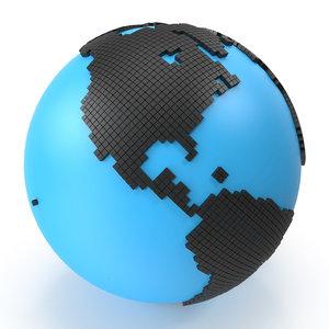 world digital diamonds 3D model