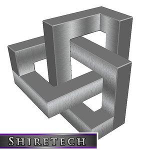 3D model metal art sculpture 08