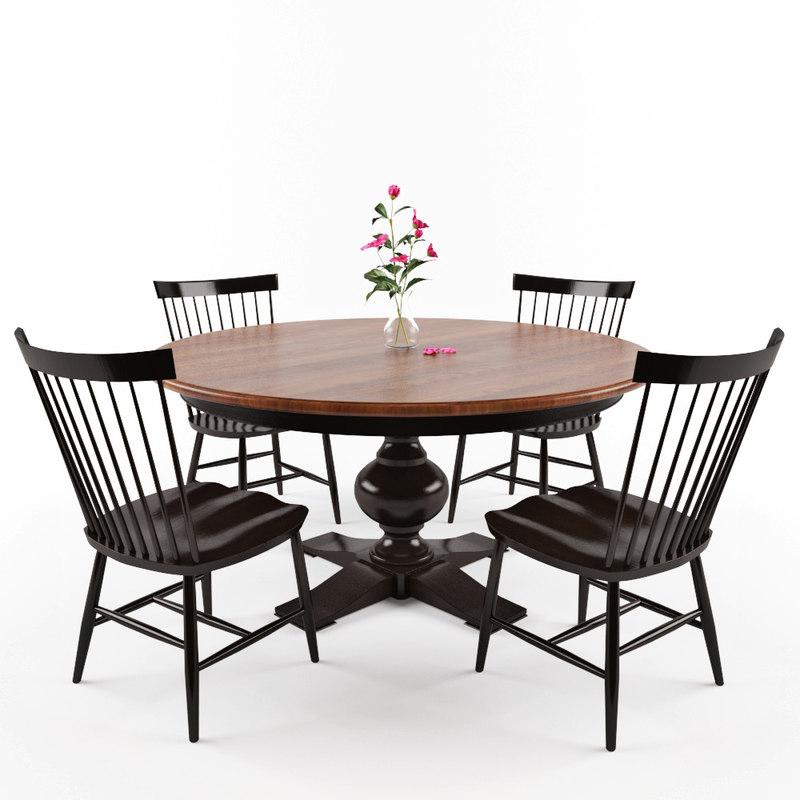dining chair berkshire 3D model