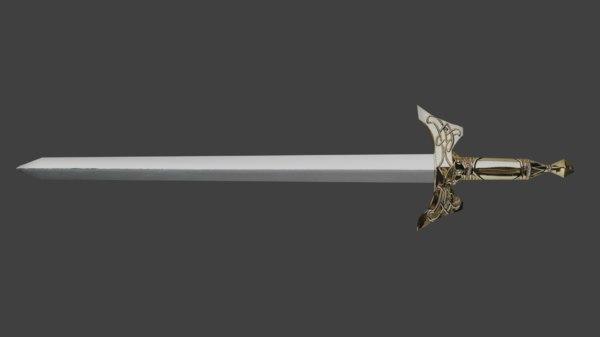 3D medieval sword model